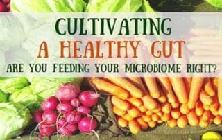 eating for a healthy gut microbiome with vegetable background images