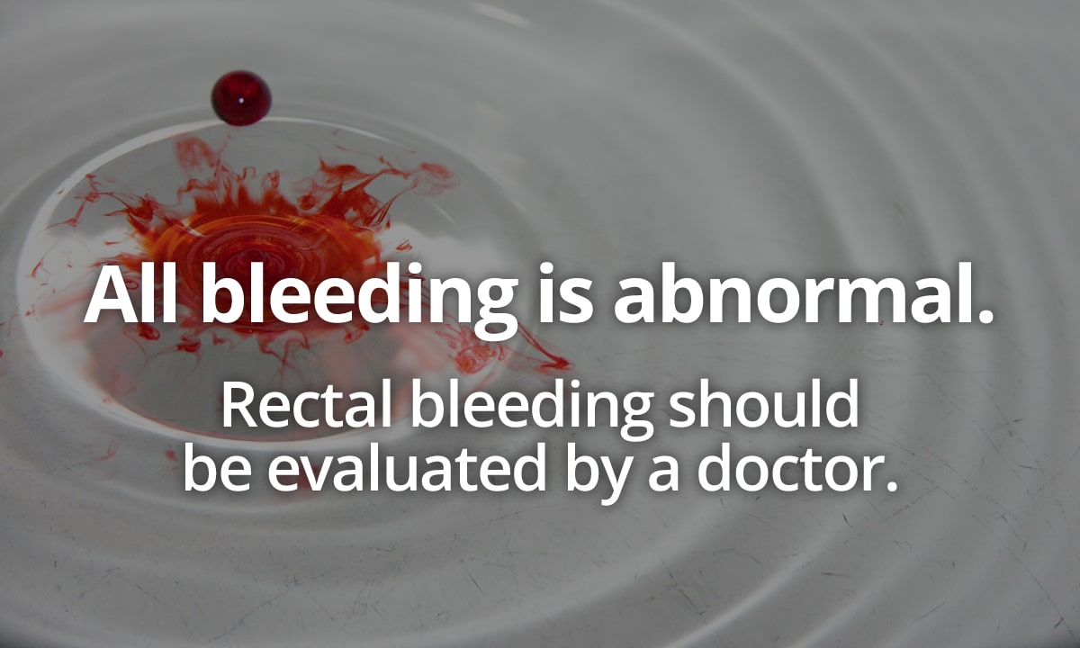 blood in toilet due to rectal bleeding
