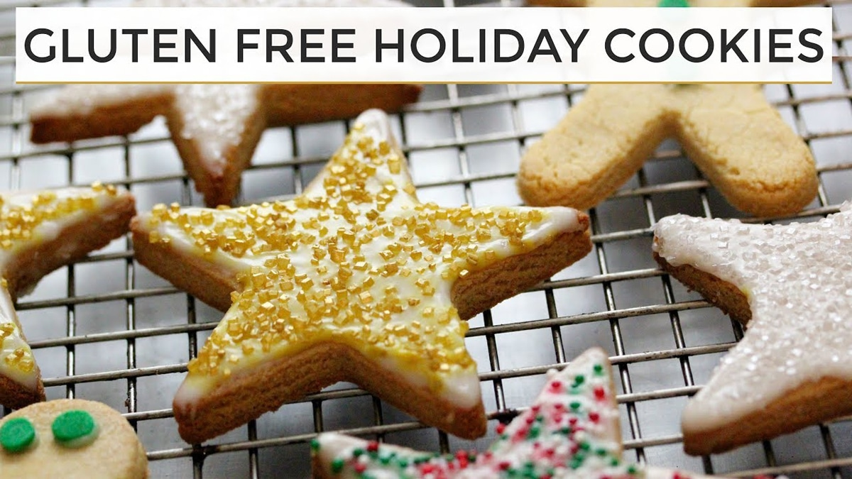 View Larger Image Gluten Free Holiday Cookies Decorated Displayed On Metal Cooking Tray